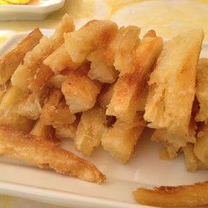 Receta de patacones o plátanos fritos. Un aperitivo sencillo y muy apetitoso.