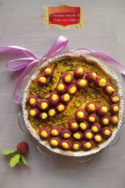 Crostata di lamponi selvatici e crema del Buonumore   #favole #fiabe #dolci #ricette #pasticceria #bambini #infanzia #racconti #fantasia