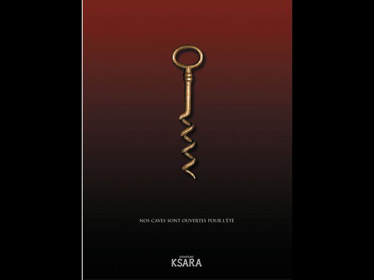 "Chateau Ksara - ""Corkscrew"" - H&C Leo Burnett Beirut  http://pt.adforum.com/award/showcase/6650287/2002/ad/18970"