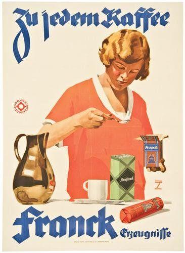 Ludwig Hohlwein » Frank Coffee (c.1920) by Susanlenox, via Flickr