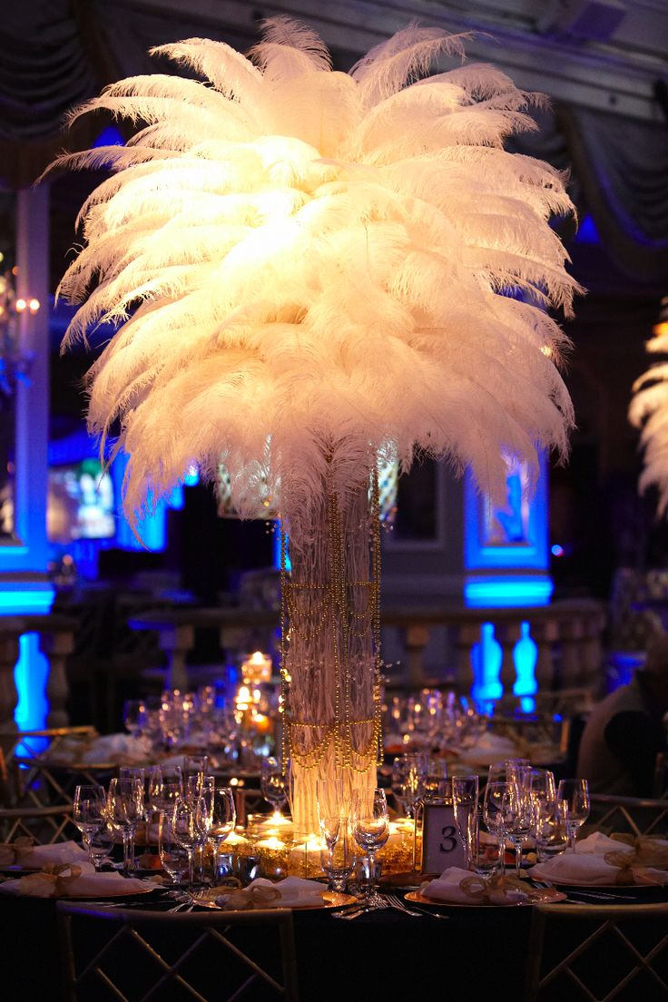 great gatsby table decor | Bar and Bat Mitzvah | Sweet 16
