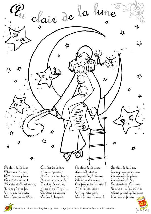 Comptine Au Clair De La Lune, page 4 sur 13 sur HugoLescargot.com