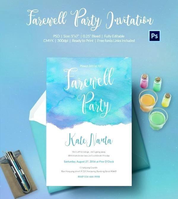 Free Farewell Flyer Templates