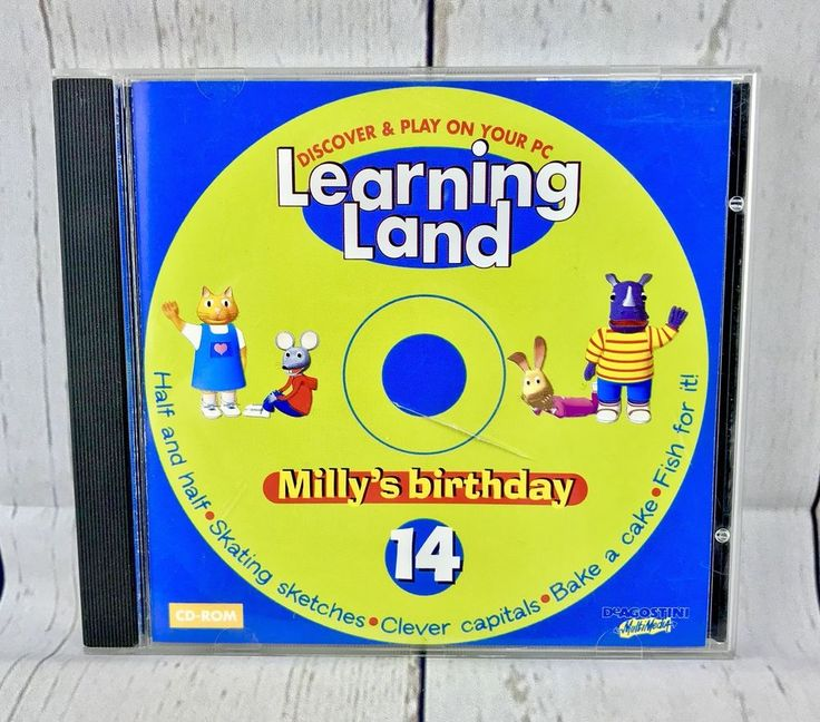 Learning Land PC CD Rom / No 14 Milly's Birthday Lots To Learn And Enjoy Games