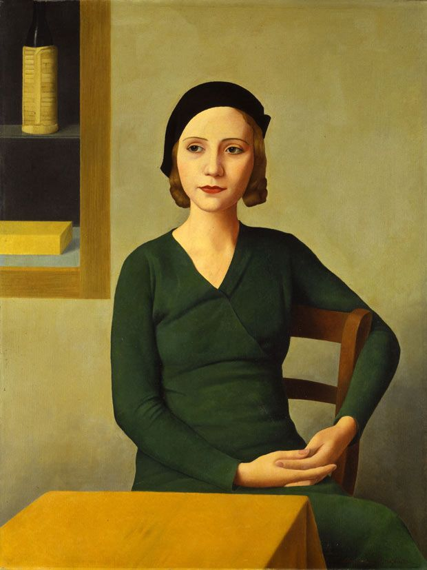 woman at the cafe by antonio donghi, 1932