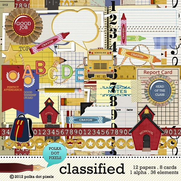 classified - the kit by Polka Dot Pixels - Two Peas in a Bucket
