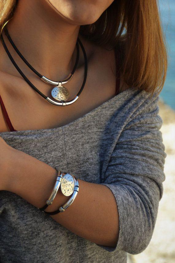 Collar bohemiadoble capa collarjoyas bohocollar hippieboho
