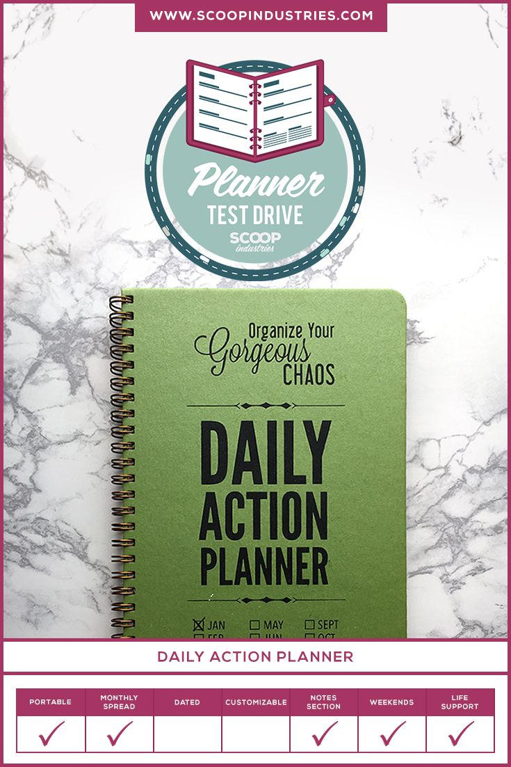 It's time to pick out a new day planner, which seems like an easy enough task, and the next thing you know you're in the office supply aisle with 15 different options laid out in front of you. Considering how many choices are available how do you know which one is the right fit? *Pin this post to read about our test run of the Daily Action Planner to see if it's the one for you* via @scoopindustries
