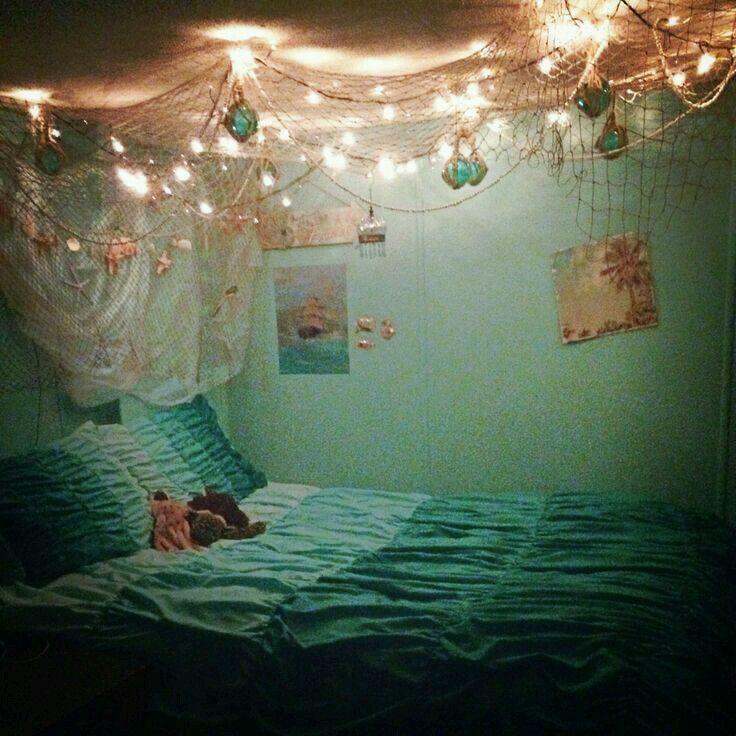 Fishing net and lights