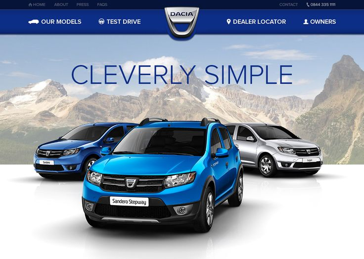 Dribbble - dacia-landing-page.png by Roy Barber