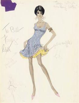 Edith Head costume design for Shirley MaClaine in Sweet Charity.