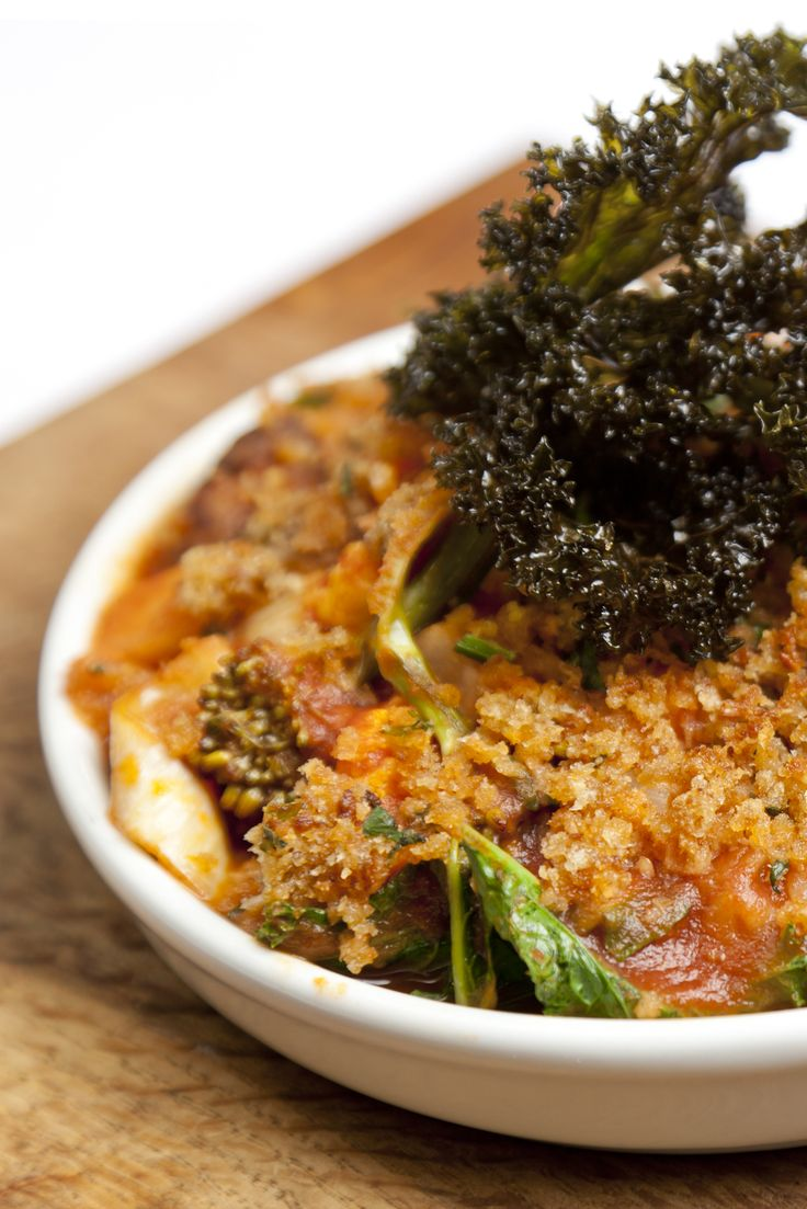 Hearty vegetarian dishes fit for winter can be hard to find - but this vegetable and chestnut stew recipe from James Mackenzie ticks all of those boxes, consisting of chestnuts, broccoli and carrots and topped with a sage crumb and deep-fried kale, for texture. What's more, it's teeming with nutrients, too.