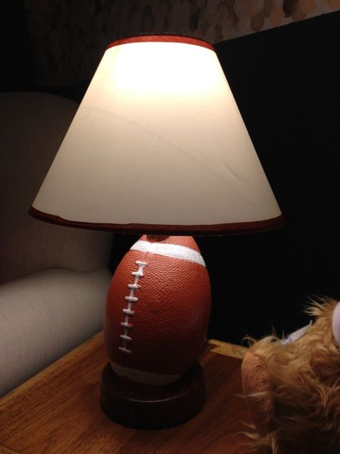 Football lamp. Perfect for a little boy's sports themed room