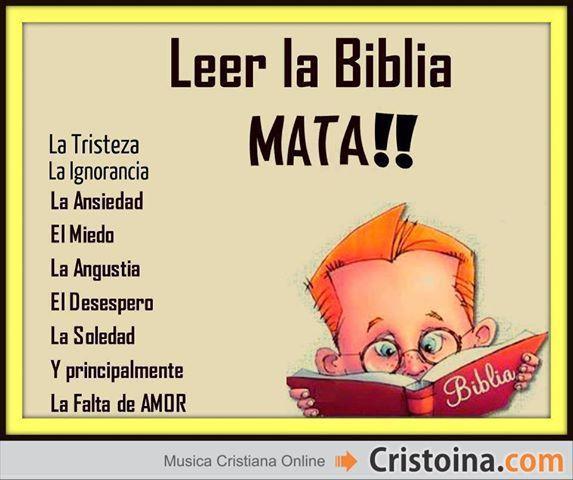 Leer la biblia, mata: