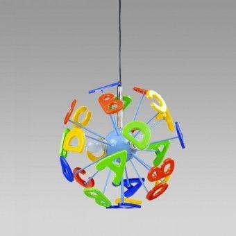 Zwis sufitowy 3 ABC 28006 dla dzieci Salon Oświetleniowy Mariner