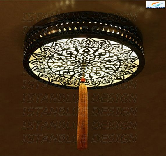 Ottoman Lazer Cut Turkish Handmade Chandelier  Ceiling Lamp