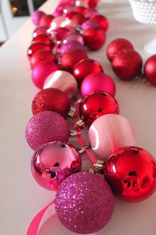 Christmas bulb garland diy #decoration #ornaments