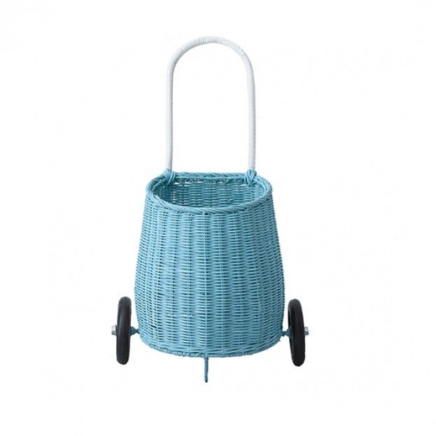 The luggy basket from Olli Ella is just perfect for the child on the go!  This tiny wheeled basket is ideal for storing and toting about treasures.  With it's generous wheels it can go from the playground to the beach.