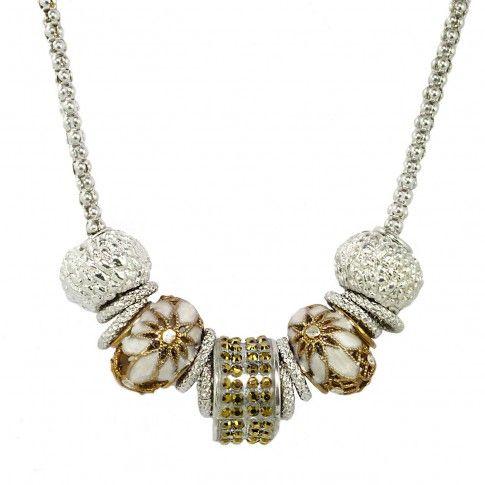 Beads Srebrny Naszyjnik