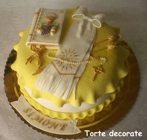 First communion cake by tortedecorate, via Flickr