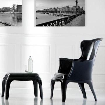 pedrali chairs in pasha black