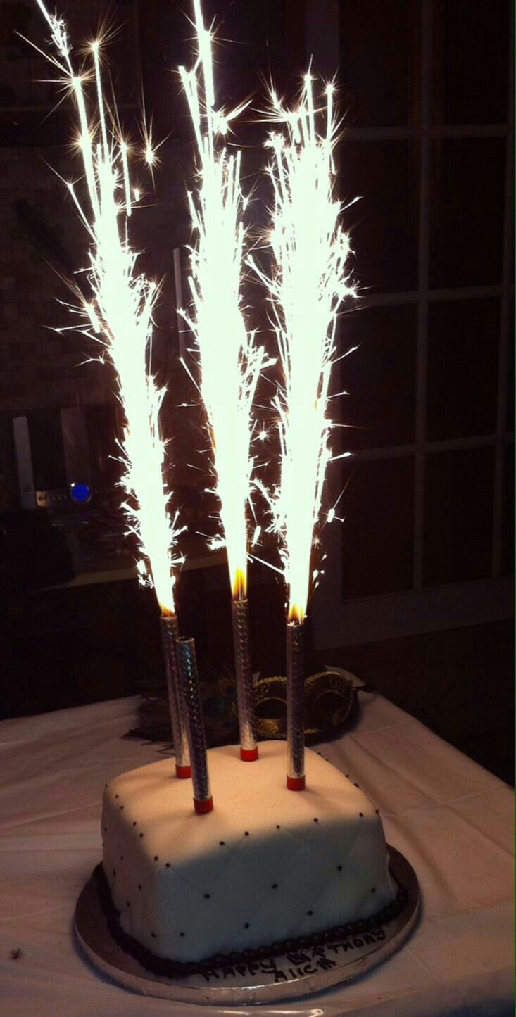 Birthday Cake Sparklers Sparkler Candles With