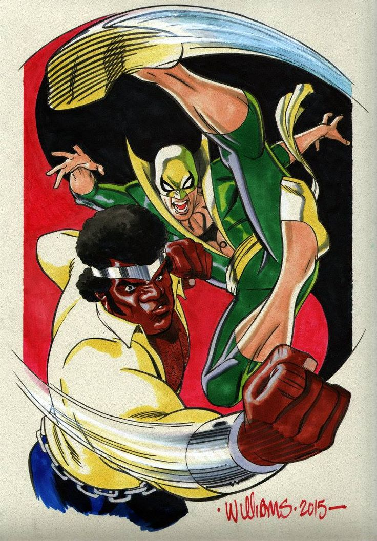 Luke Cage and Iron Fist by David Williams *