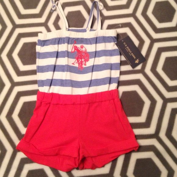 Kids Polo outfit! Adorable kids polo outfit, size 3T, NEVER WORN, New with Tags! Polo by Ralph Lauren Tops Tank Tops