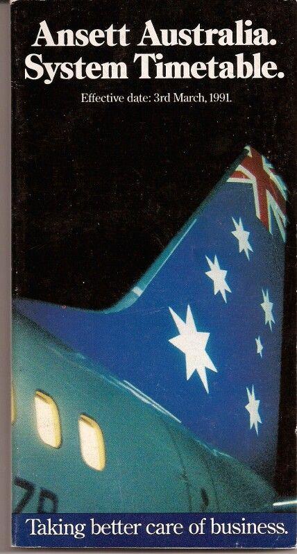 Ansett Australia 1991 Timetable