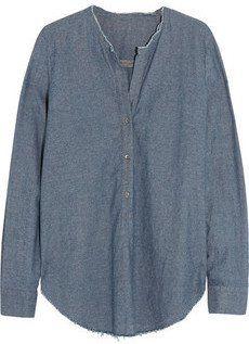 Pin for Later: So gut sahen abgeschnittene Jeans noch nie aus  Raquel Allegra Bluse aus Baumwoll-Chambray (347 €)