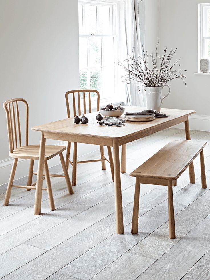 Bergen Oak Dining Table Natural Scandinavian Dining Table Oak Table Oak Dining Sets