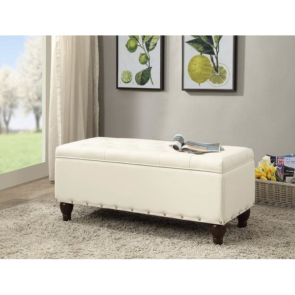 Alcott Hill Hemby Faux Leather Storage Bench Reviews Wayfair With Images Upholstered Storage Bench Wooden Storage Bench Leather Storage Bench