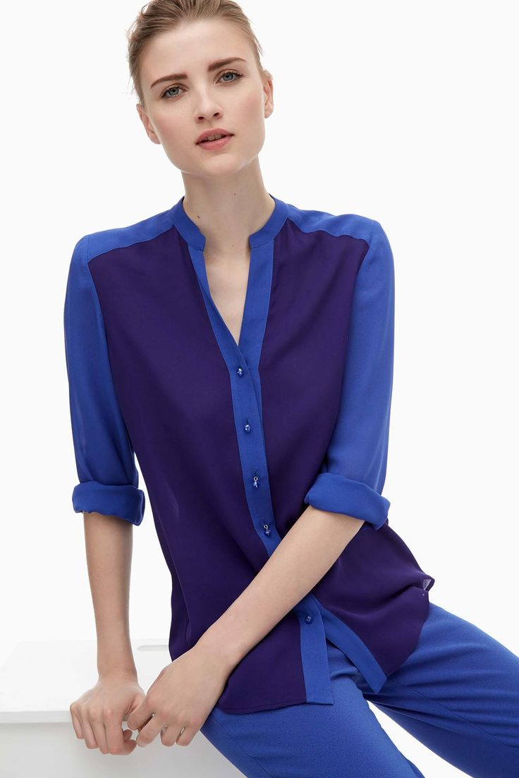 Silk Shirt With Crystal Buttons - shirts and blouses | Adolfo Dominguez shop online