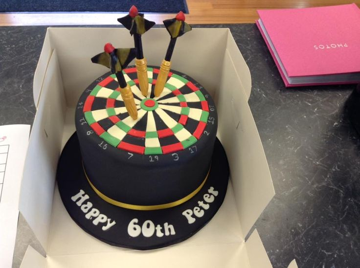 Dart Board Cake decorated by Coast Cakes Ltd
