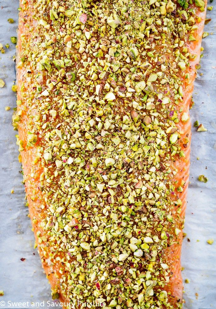 With a few simple ingredients and less than 30 minutes, this Pistachio Crusted Salmon is both an easy and quick option for a weeknight dinner and also an elegant main for a dinner party.
