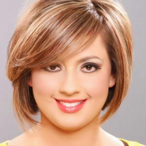 Hairstyles For Round Faces Women 25 Best Medium Hairstyles For Round Faces Images On Pinterest  Hair