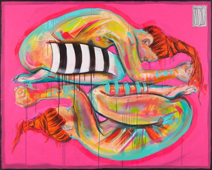 models,girs, streetart, art, paintings,nude  Prayer, 120x150 cm, akryl, olej…
