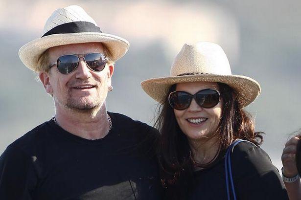 U2's Bono with wife Ali Hewson