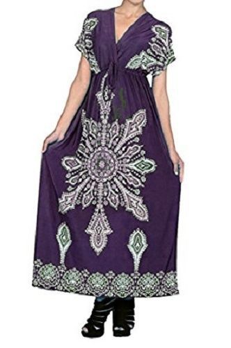 Check out #Purple #MaxiDress Empire Surplice V-Neck #Bohemian #Paisley #BohoChic #Beachy #Hippie #Bohemian #Festival