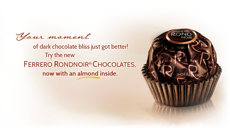 Ferrero Rond Noir - I received a parcel of 12 from my lovely stepmother for Valentine's Day.  She loves me!