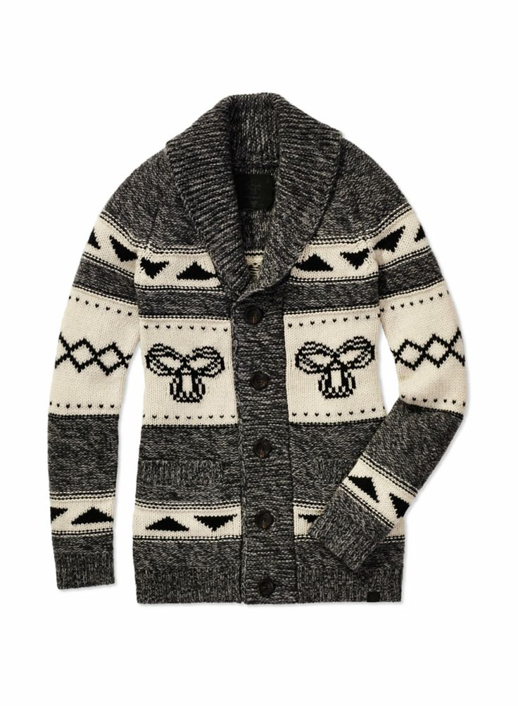 TNA NORTHWEST SWEATER - Inspired by traditional Northwest Coast knits, made with cozy lambswool