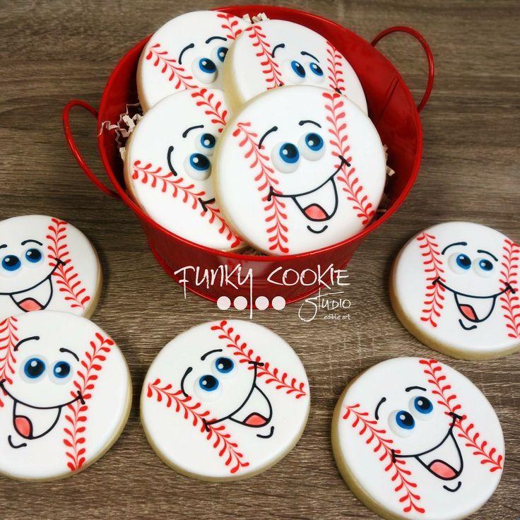 Baseball cookies by Funky Cookie Studio