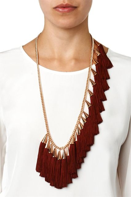 12 Tassel Necklaces With Loads Of Fringe Benefits #refinery29  http://www.refinery29.com/tassel-necklaces#slide9