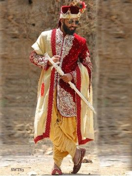 Maroon Color Sherwani