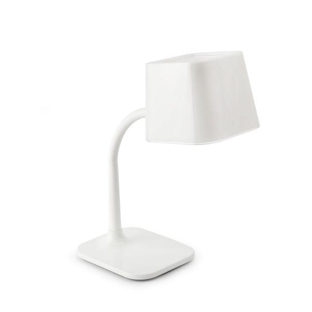 Lámpara escritorio juvenil blanca #decoracion #iluminacion #interiorismo #diseño #lamparas #lamparasmesa #lamparasbonitas