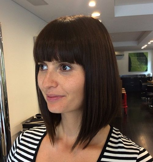 40 Сharming Short Fringe Hairstyles For Any Taste And Occasion Straight Bangs Long Bob And Bangs