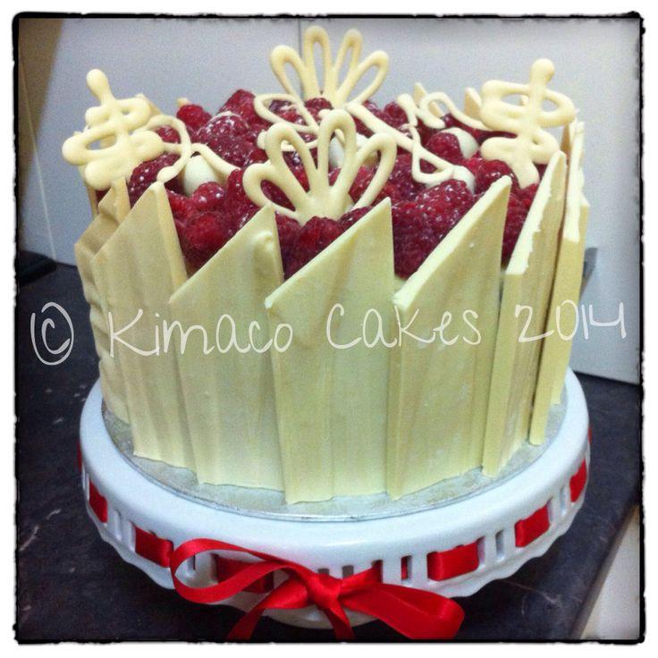 My Raspberry & White Chocolate Birthday Cake Made By Me