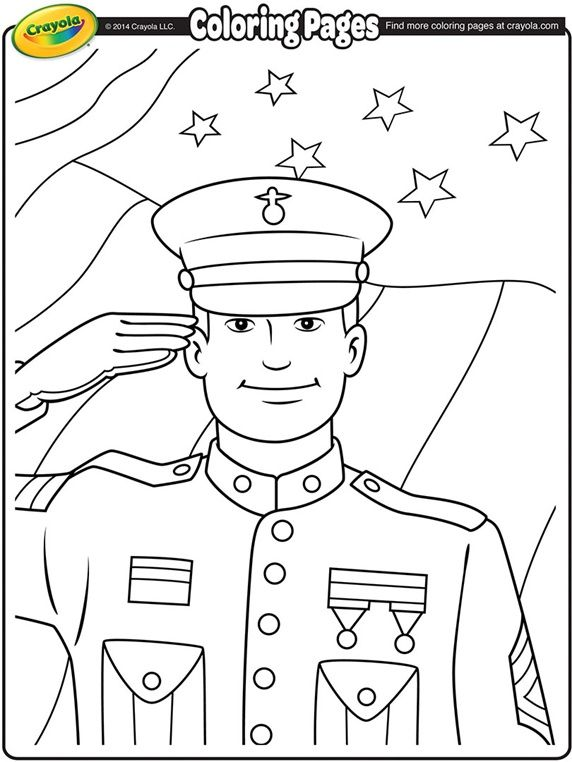 Veterans Day Soldier on crayola.com