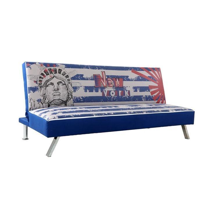 Sofa cama clic clac New York tapizado en símil piel