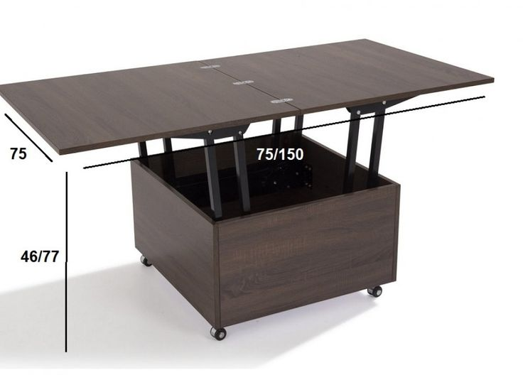 Les 25 meilleures id es de la cat gorie table basse for Table salon escamotable